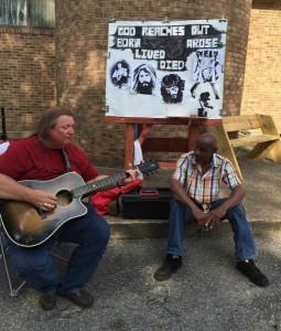 Randy and Kent at Oak City Mission